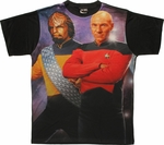 Star Trek TNG Worf Picard Sublimated T Shirt Sheer