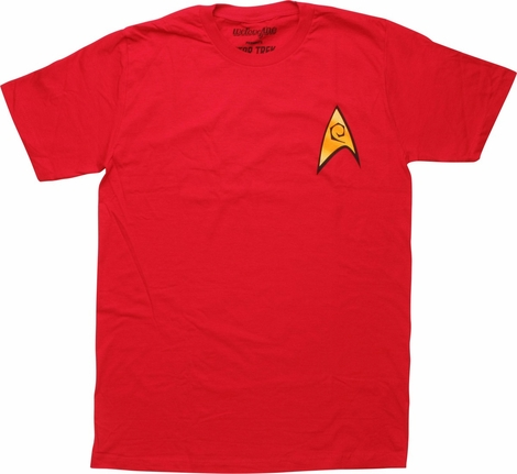 Star Trek TOS Engineering Badge T-Shirt