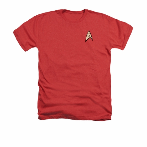 Star Trek TOS Engineering Heather T Shirt