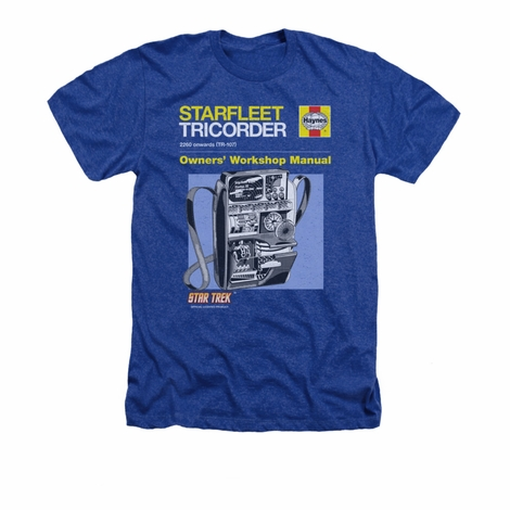 Star Trek Tricorder Manual Heather T Shirt