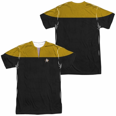 Star Trek Voyager Engineer FB Sublimated T Shirt