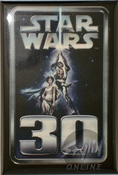 Star Wars 30th Logo Button