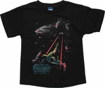 Star Wars 3D Neon Space Juvenile T Shirt