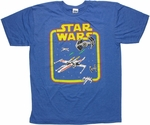 Star Wars 8 Bit Combat Heather T Shirt Sheer