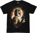 Star Wars Boba Fett Side Tie Dye T Shirt