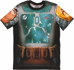 Star Wars Boba Fett Sublimated Costume T Shirt Sheer