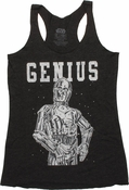 Star Wars C3PO Genius Tank Top Baby Tee