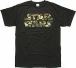 Star Wars Camo Logo Black T Shirt