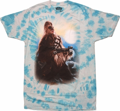 Star Wars Chewbacca Bowcaster Tie Dye T-Shirt