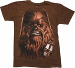 Star Wars Chewbacca Mineral Wash T Shirt Sheer