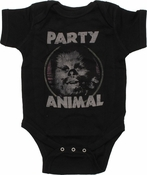Star Wars Chewbacca Party Animal Snap Suit