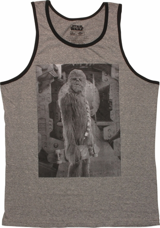 Star Wars Chewbecca Skateboard Ringer Tank Top