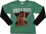 Star Wars Chewy Wingman Long Sleeve Juvenile T Shirt