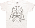 Star Wars Darth Sketch White Youth T Shirt