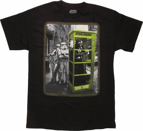 Star Wars Darth Vader in Phone Booth T-Shirt