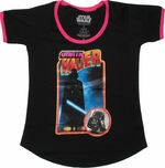 Star Wars Darth Vader Retro Ladies Tee