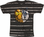 Star Wars Droids Striped Juvenile T Shirt