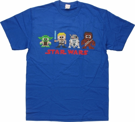 Star Wars Eight Bit Four Characters T-Shirt