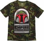 Star Wars Empire Boba Camo T Shirt