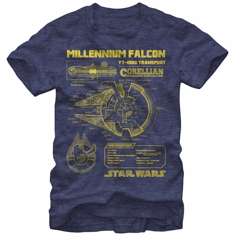 Star Wars Falcon Specs T-Shirt