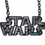 Star Wars Gem Name Black Necklace