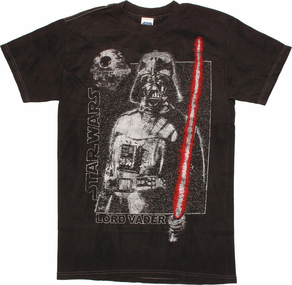 Star Wars Grainy Vader River Wash T Shirt