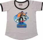 Star Wars Han Solo Retro Ladies Tee