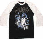 Star Wars Hope Poster 3/4 Raglan T Shirt