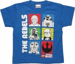 Star Wars Lego Boxed Rebels Juvenile T Shirt