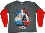 Star Wars Lego Choose Long Sleeve Juvenile T Shirt