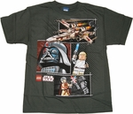 Star Wars Lego Collage Youth T Shirt