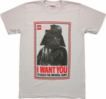 Star Wars Lego Darth Vader Wants You T Shirt Sheer