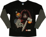 Star Wars Lego Double Duel Long Sleeve Youth T Shirt