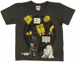 Star Wars Lego Droids Youth T Shirt