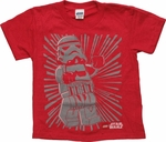 Star Wars Lego Foil Storm Trooper Juvenile T Shirt