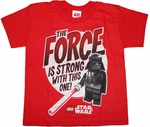 Star Wars Lego Force Juvenile T Shirt