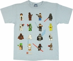 Star Wars Lego Four by Four Youth T Shirt