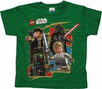 Star Wars Lego Good Evil Green Juvenile T Shirt