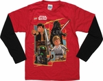 Star Wars Lego Good vs Evil Long Sleeve Juvenile T Shirt