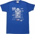 Star Wars Lego R2D2 Features T-Shirt