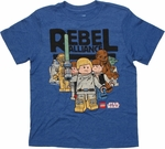 Star Wars Lego Rebel Alliance Youth T Shirt