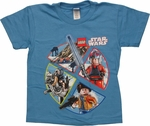Star Wars Lego Scene Pie Juvenile T Shirt