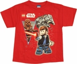 Star Wars Lego Space Chums Juvenile T Shirt