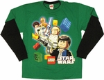 Star Wars Lego Team Long Sleeve Youth T Shirt