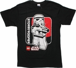Star Wars Lego Trooper Box T Shirt Sheer