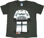 Star Wars Lego Trooper Juvenile T Shirt