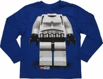 Star Wars Lego Trooper Long Sleeve Youth T Shirt
