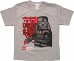 Star Wars Lego Vader Welcome Youth T Shirt