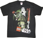 Star Wars Lego Villain Youth T Shirt
