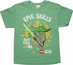 Star Wars Lego Yoda Epic Skills Youth T Shirt